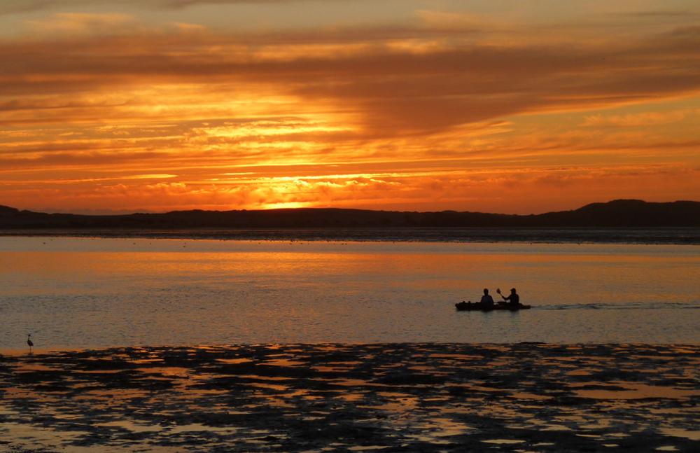Kayak at Sunset, Morro Bay 1Oct11