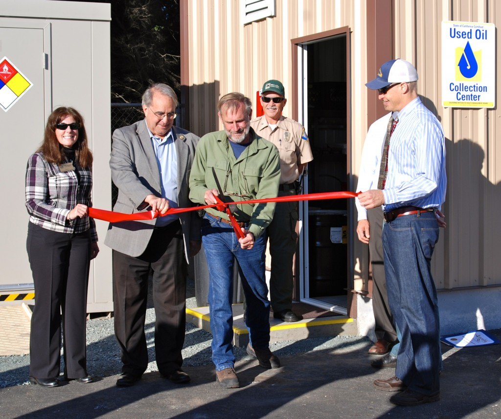 Ribbon cutting on oil recycling facility