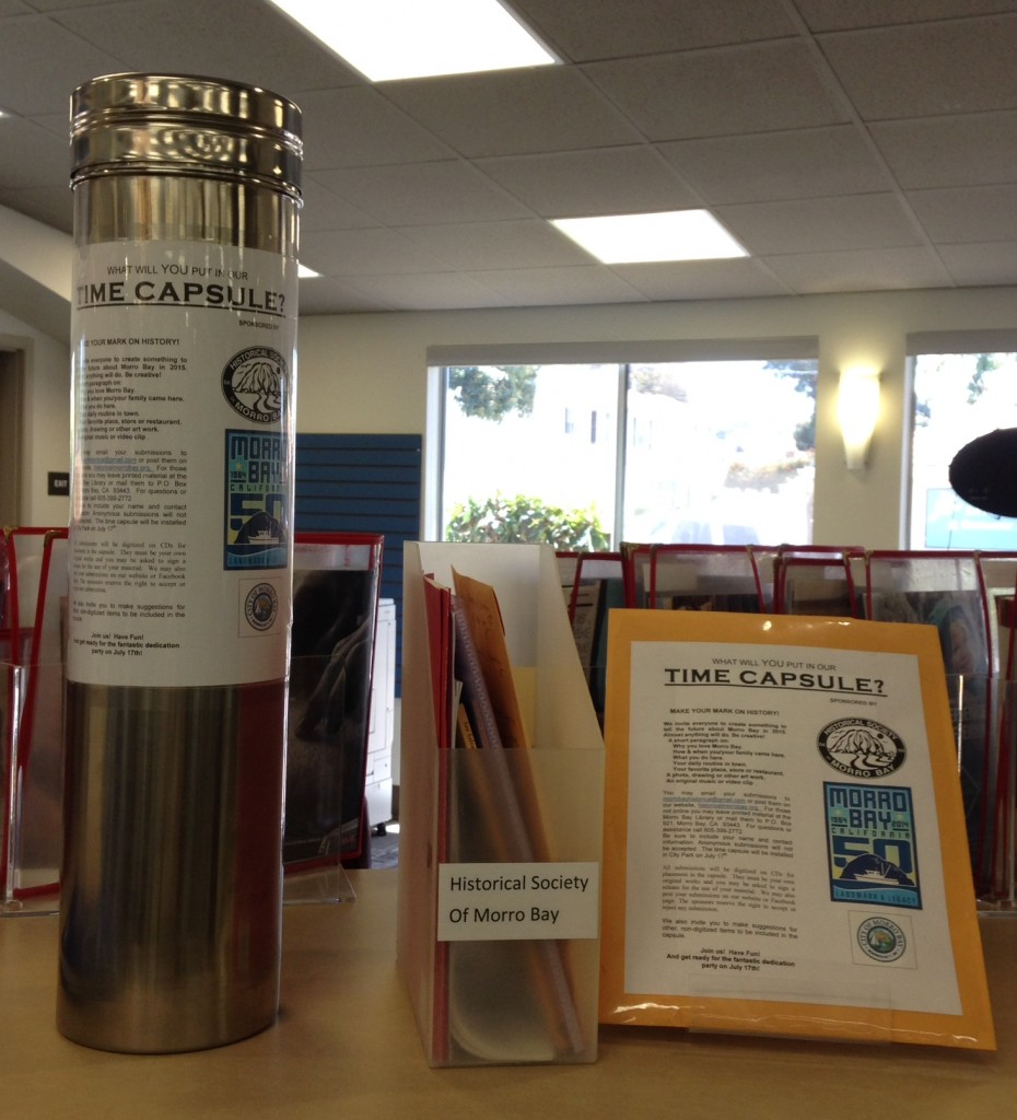 Previously, the time capsule was housed at the Morro Bay Library so that people could learn about the project and drop off submissions.