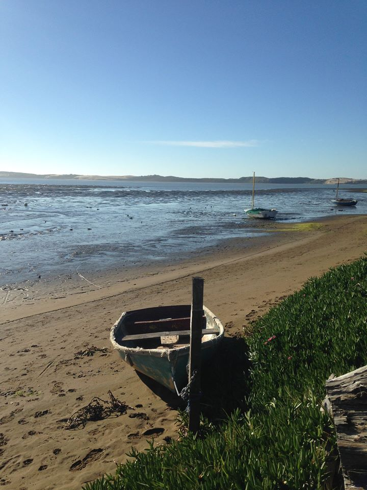 The beach near the Baywood Pier at low tide.