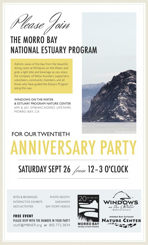20th Anniversary Party invitation