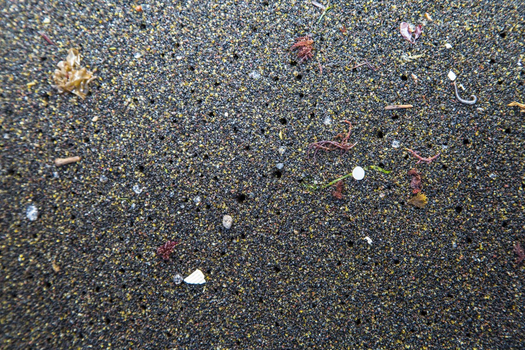 Microbeads and other microplastics show up on beaches worldwide.