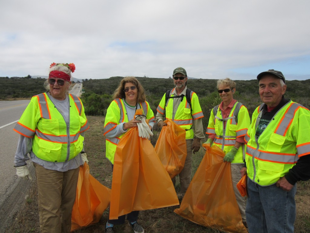 10 volunteers picked up trash along South Bay Boulevard, and had fun while they worked.