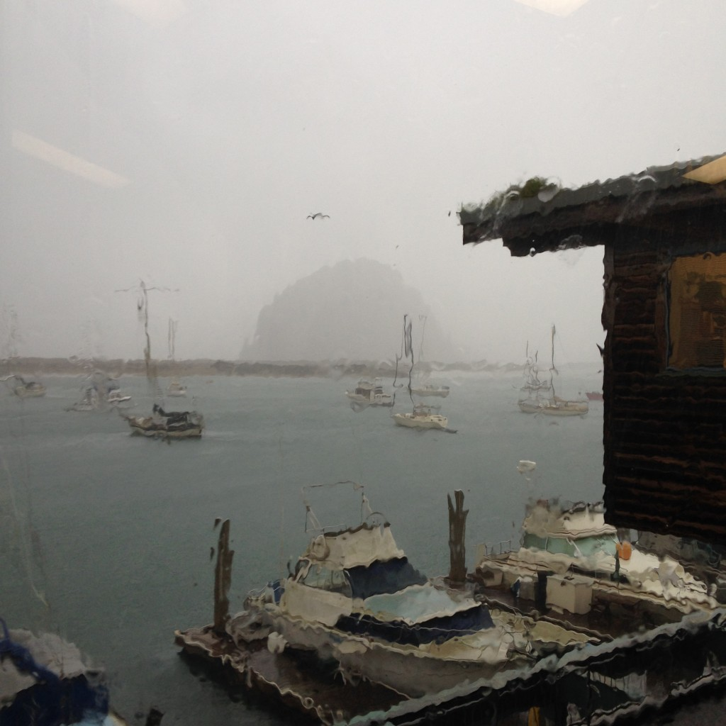 The view from the Estuary Program office during a recent rainstorm.