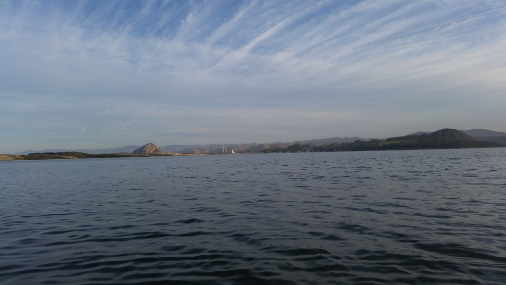 Here's a view from Karissa's boat as she did a Dawn Patrol survey of the back bay.