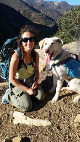 Our Monitoring Coordinator, Karissa, enjoys backpacking with her dog, Willow.
