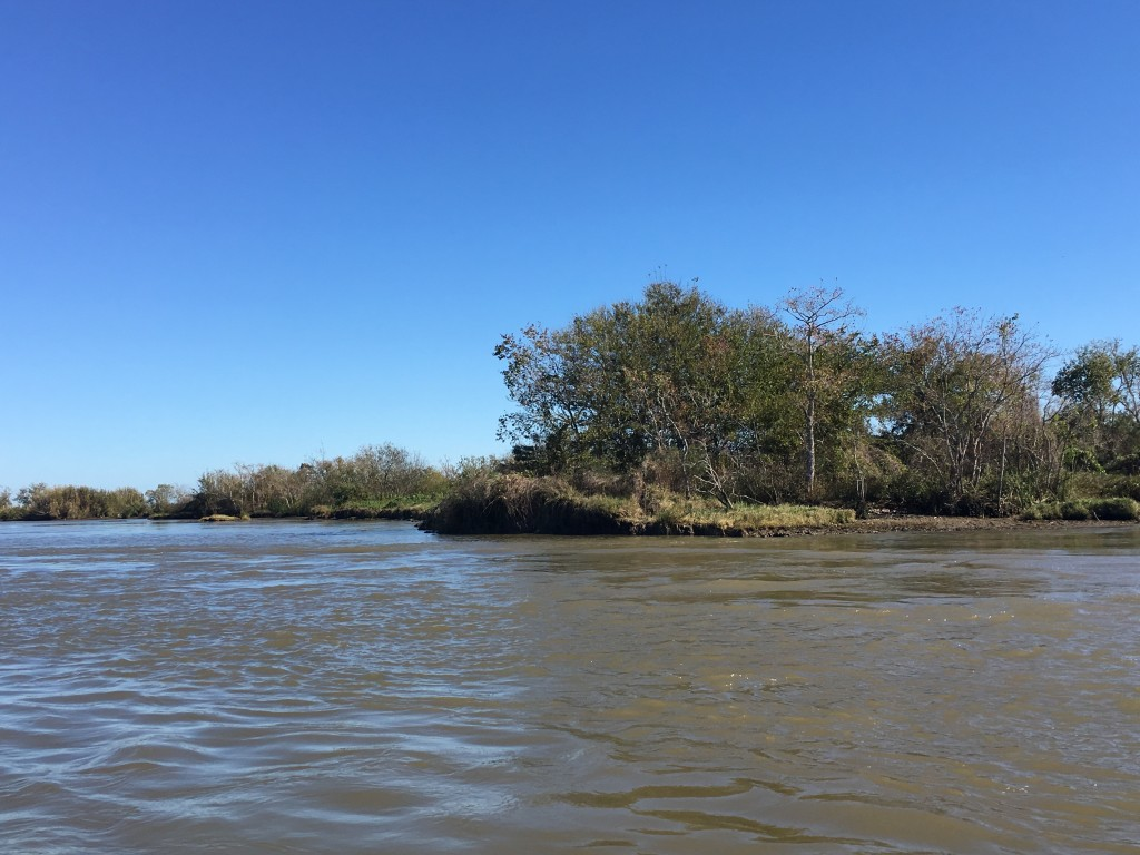 Marshland in Plaquemines Parish is disappearing quickly as waves and currents wash land away.