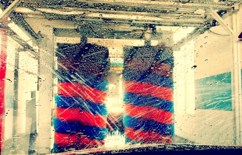 Car washes often use recycled water until the final rinse cycle, when fresh water is used instead. Car Wash photograph by Adam, via Flickr.
