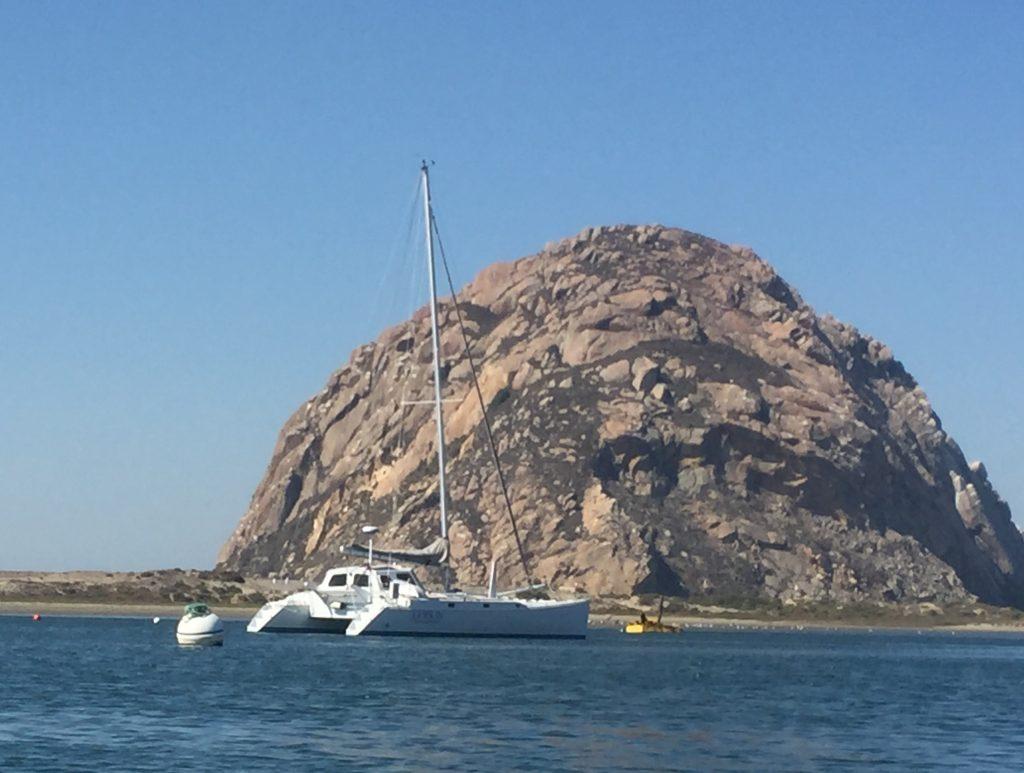Jennifer Ruesink conducts her survey via this 42-foot catamaran.
