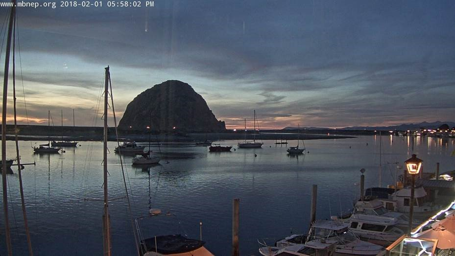 This is the first picture the Morro Bay Cam captured.