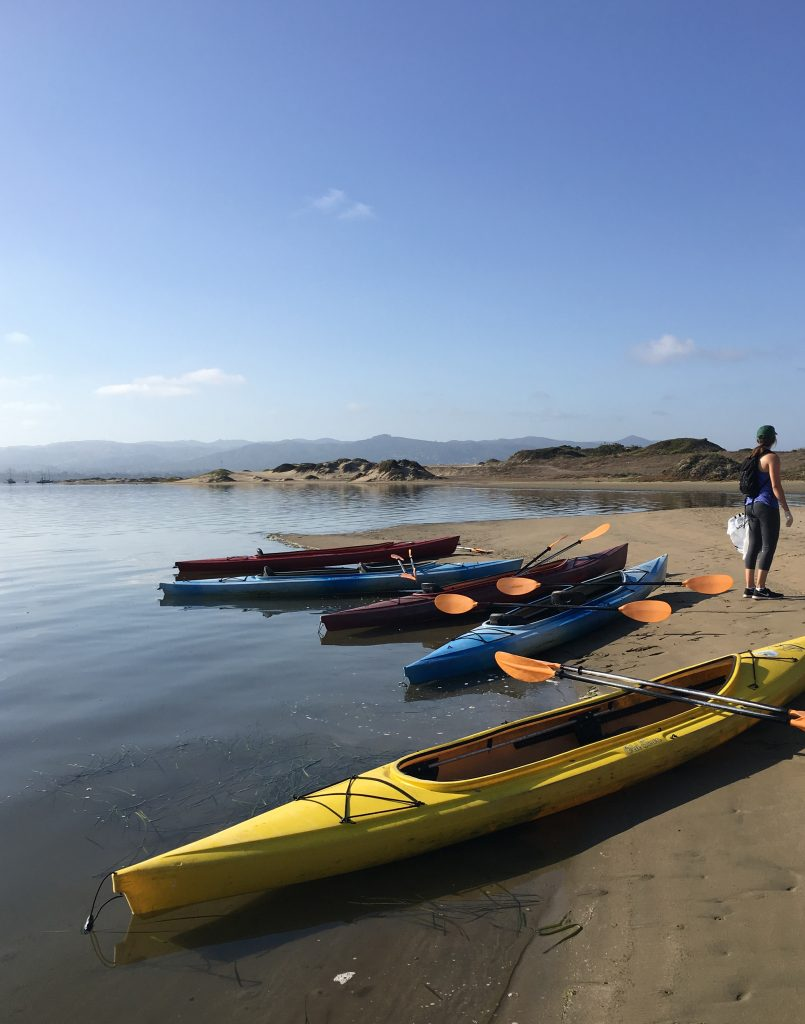 Paddling to the sandspit can be a fun activity for July 4, or any day when the weather and tides permit.