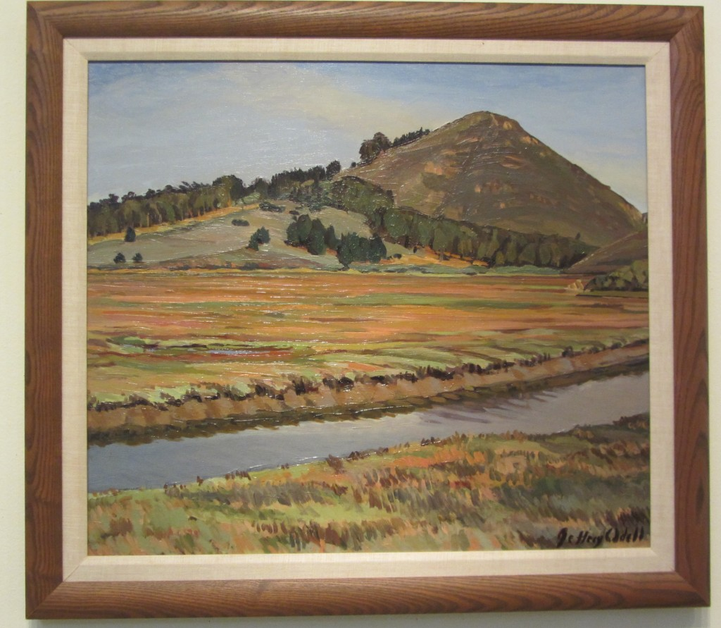 """Salt Marsh,"" an oil painting by Jeff Odell on display at the San Luis Obispo Museum of Art"