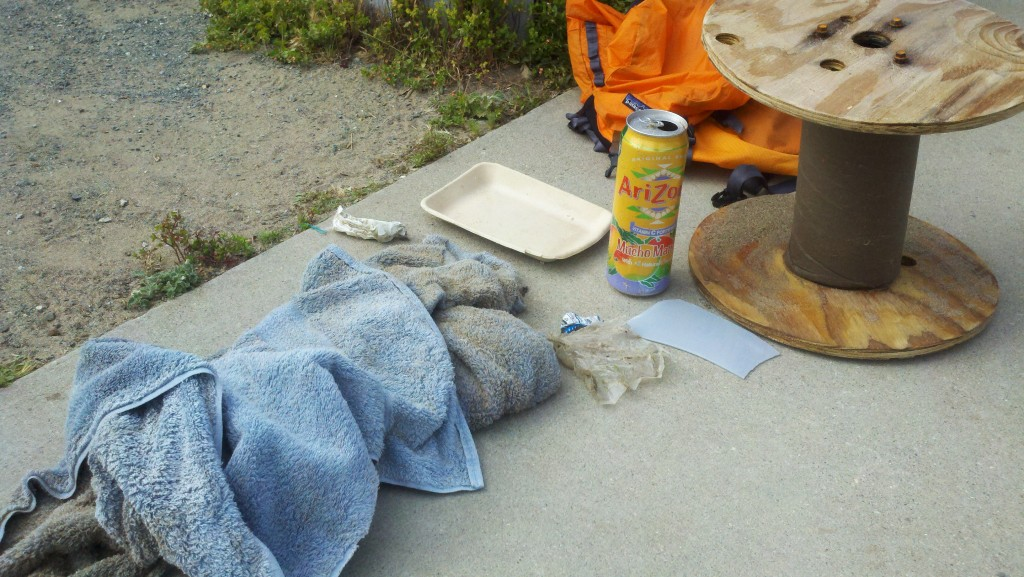 Trash picked up in Morro Bay on the beach