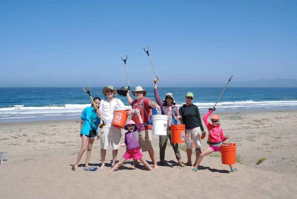 37 volunteers picked up 90 pounds of trash. Families and friends came together to get the job done!