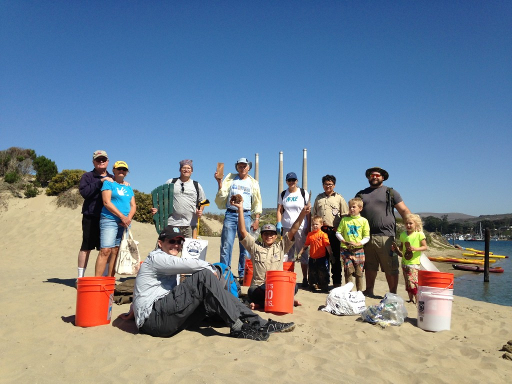 We picked up 18 pounds of trash from the sandspit, which is essential habitat for many birds, including the snowy plover.