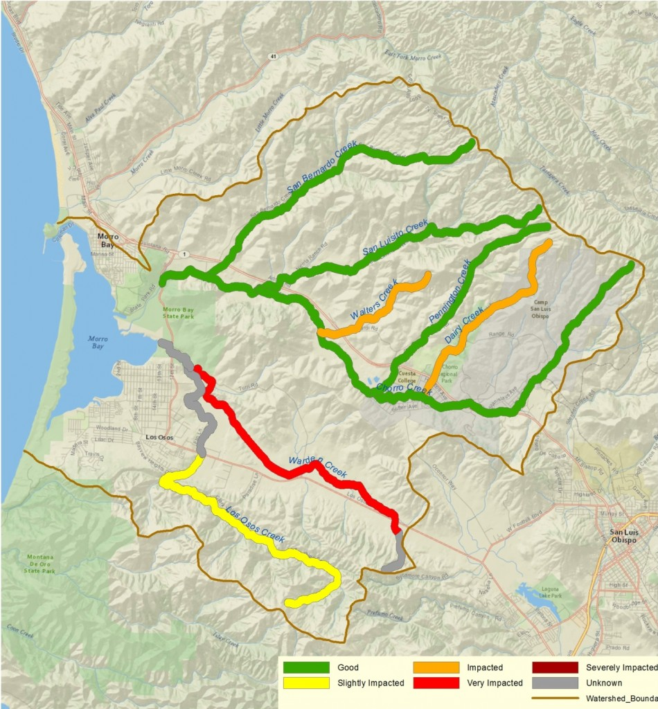 Creek Water Quality Maps