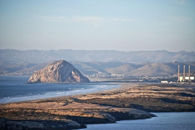 View of Morro Rock from Montana de Oro