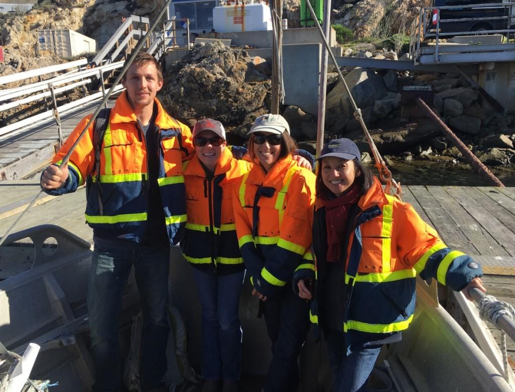 Estuary Program staff members took a tour of Diablo Cove with John Lindsey of PG&E.