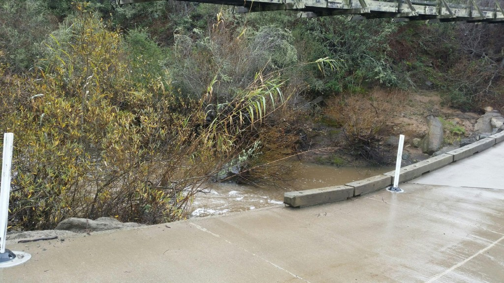 Here's another view of Chorro Creek at Canet Road.