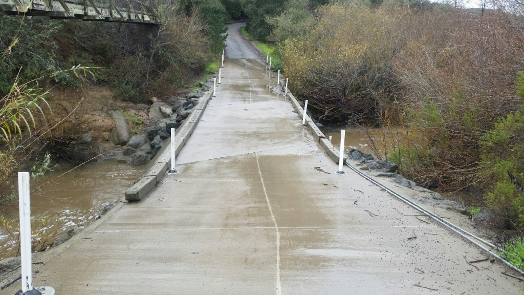 Chorro Creek at Canet Road was at 6 feet on Thursday, January 19.