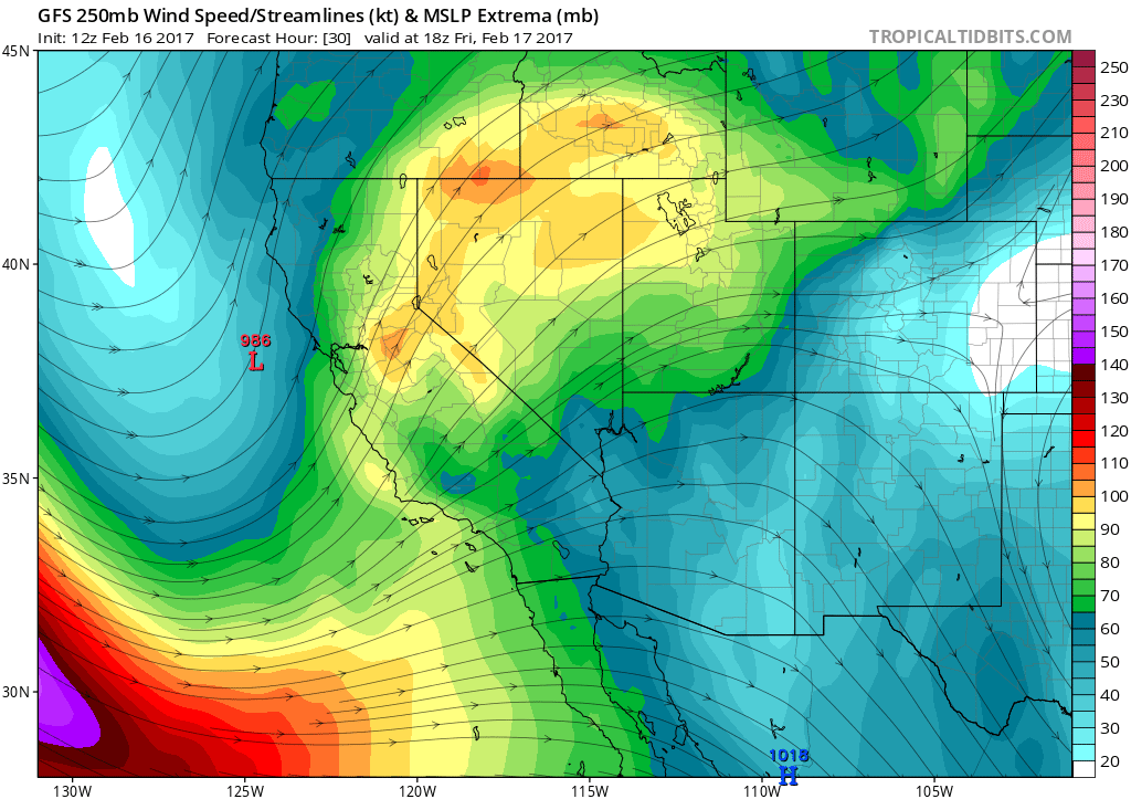 This graphic shows the current atmospheric river  positioned over California. From the California Weather Blog, by Daniel Swain.