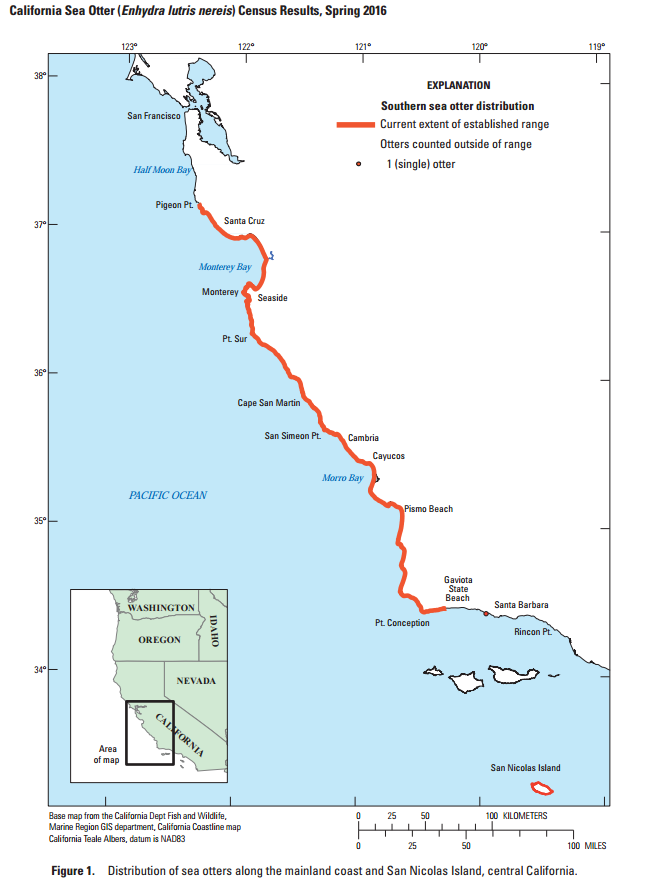 Sea Otter Population Range