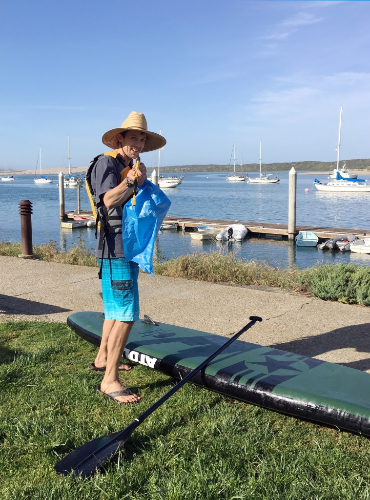 Shane Bennett, Morro Bay National Estuary Program Monitoring Coordinator, gets ready to head out on the bay to pitch in on Earth Day.