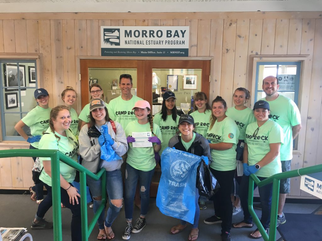 This group of smiling volunteers from Camp Rock participated in the Pick Up the Picnic Campaign last year, and made a big difference for Morro Bay. Thank you!