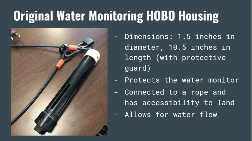 The students took detailed notes about the water quality monitoring equipment during their trip to the Estuary Program office to meet with staff.