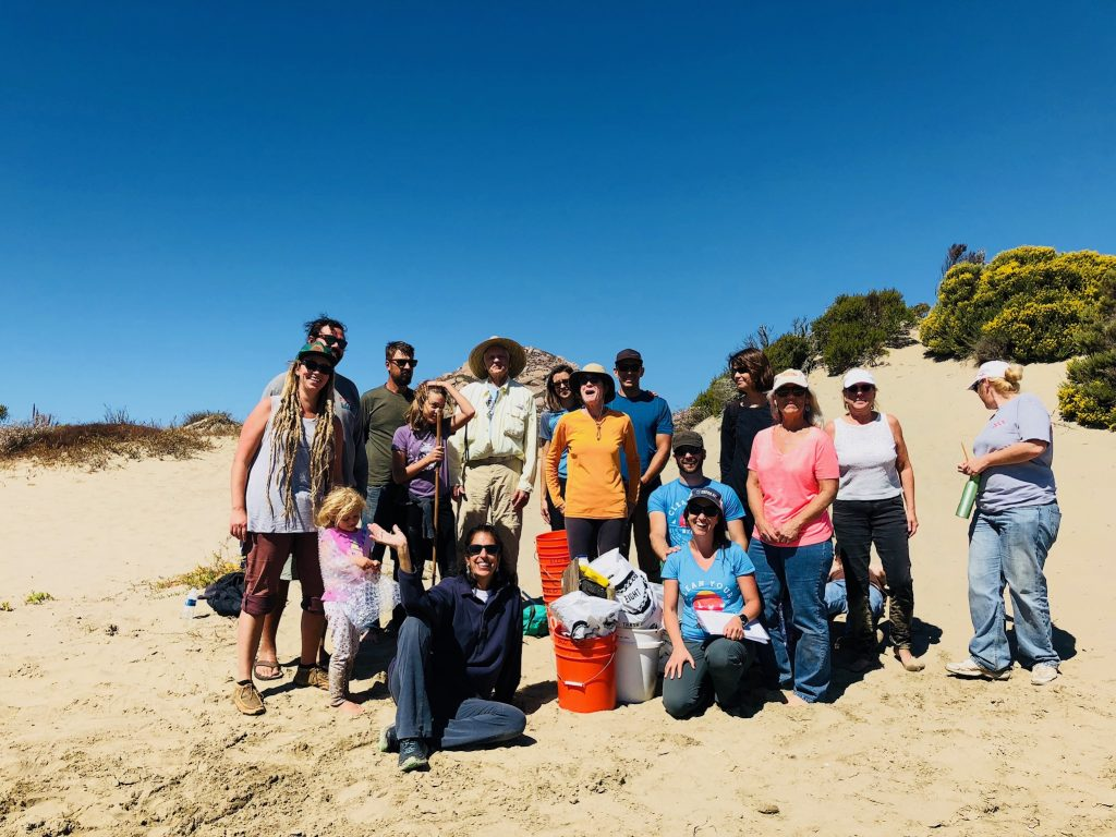 This hard-working and adventurous group of volunteers covered four miles of Morro Bay's sandspit, picking up trash as they went.