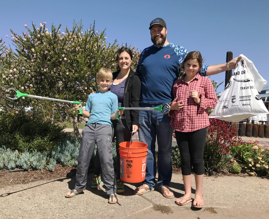 A fun family competition lead to this group of dedicated volunteers picking up 664 cigarette butts. Wow!