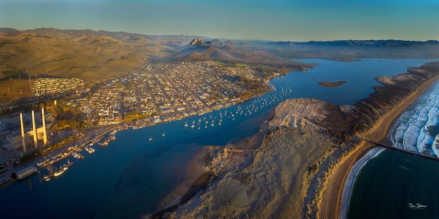 Drone photograph of the Morro Bay estuary. Courtesy of Nic Stover, StoverPhoto.