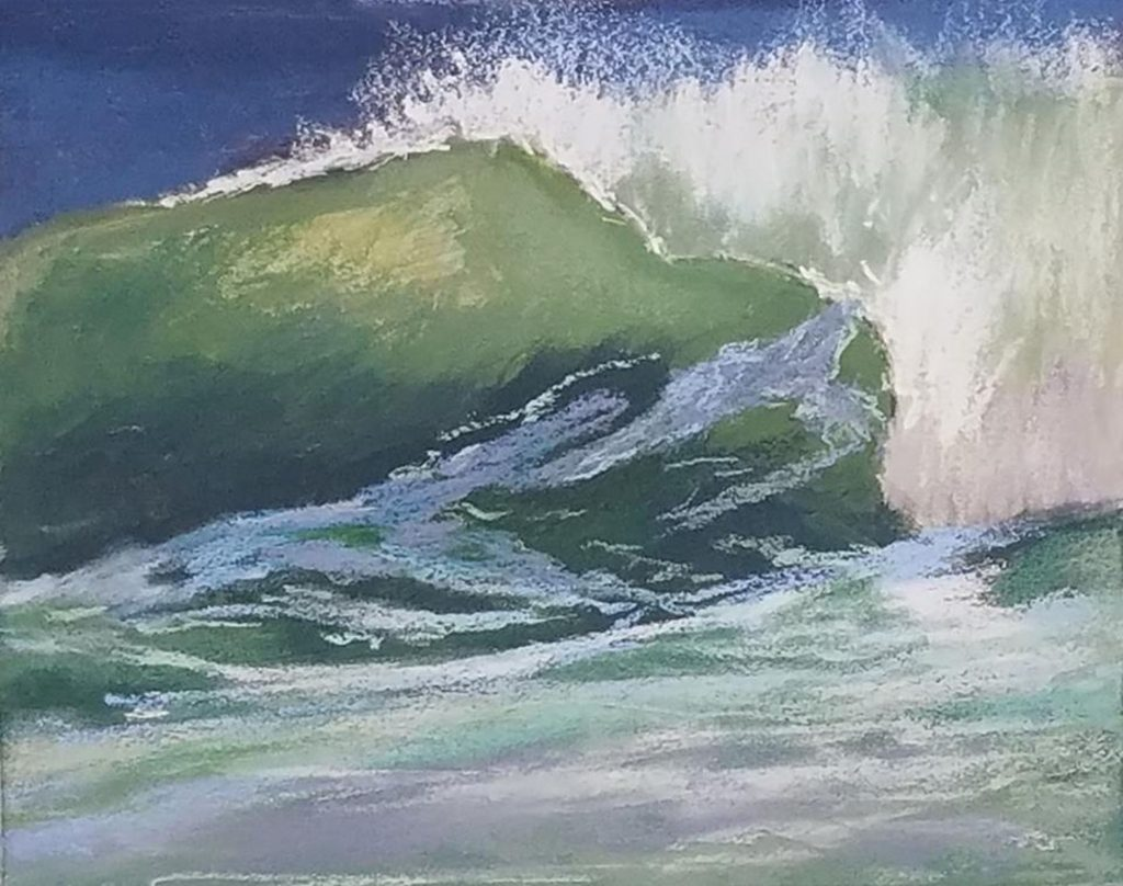 Sundance, a painting by Denise Schryver. Painted at the dog beach between Cayucos and Morro Bay.