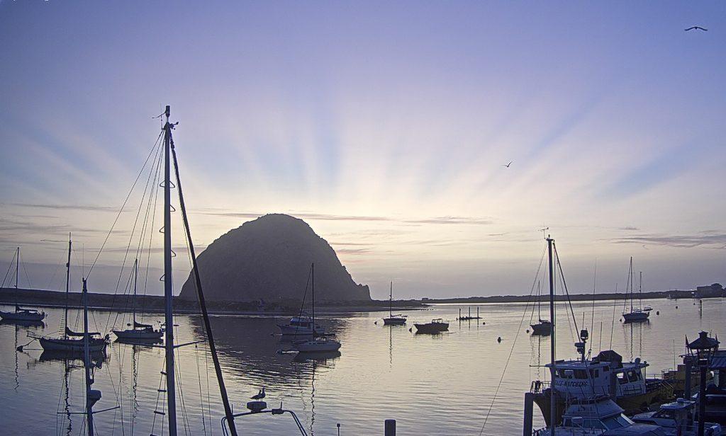 8:30 p.m. sunset sun rays