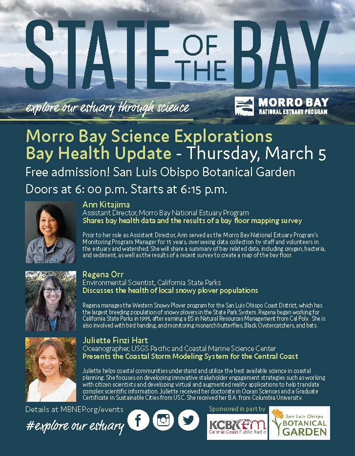 Morro Bay National Estuary Program Science Explorations Bay Health Update March 2020