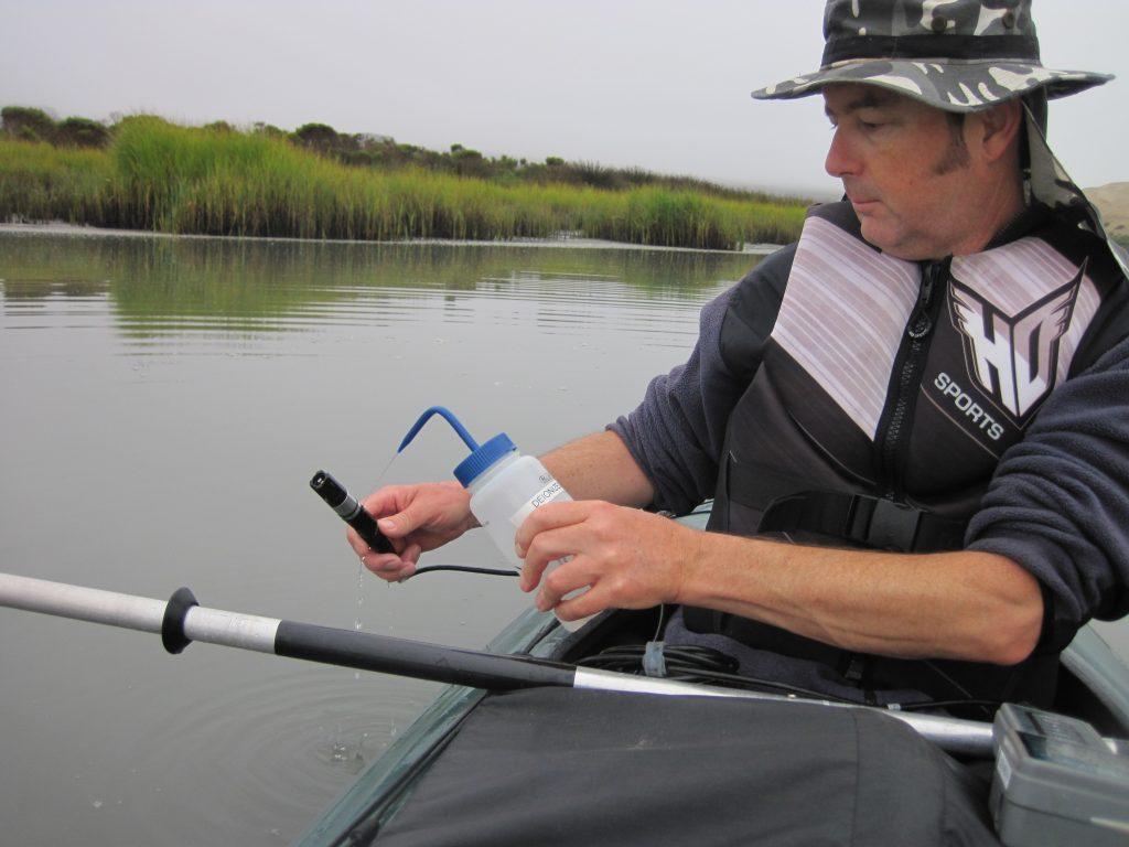 Bay Dissolved oxygen reading takien by volunteer
