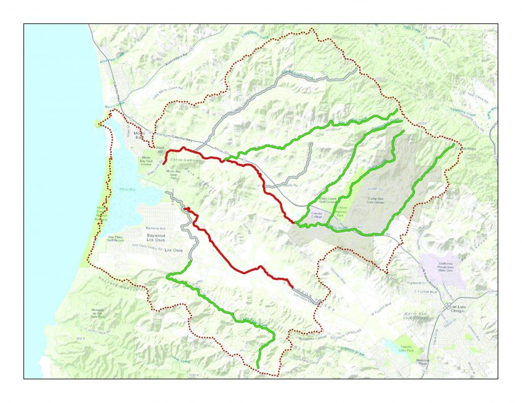 Nitrate status map, morro bay national estuary program