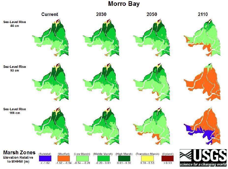 USGS Marsh Zones, Morro Bay