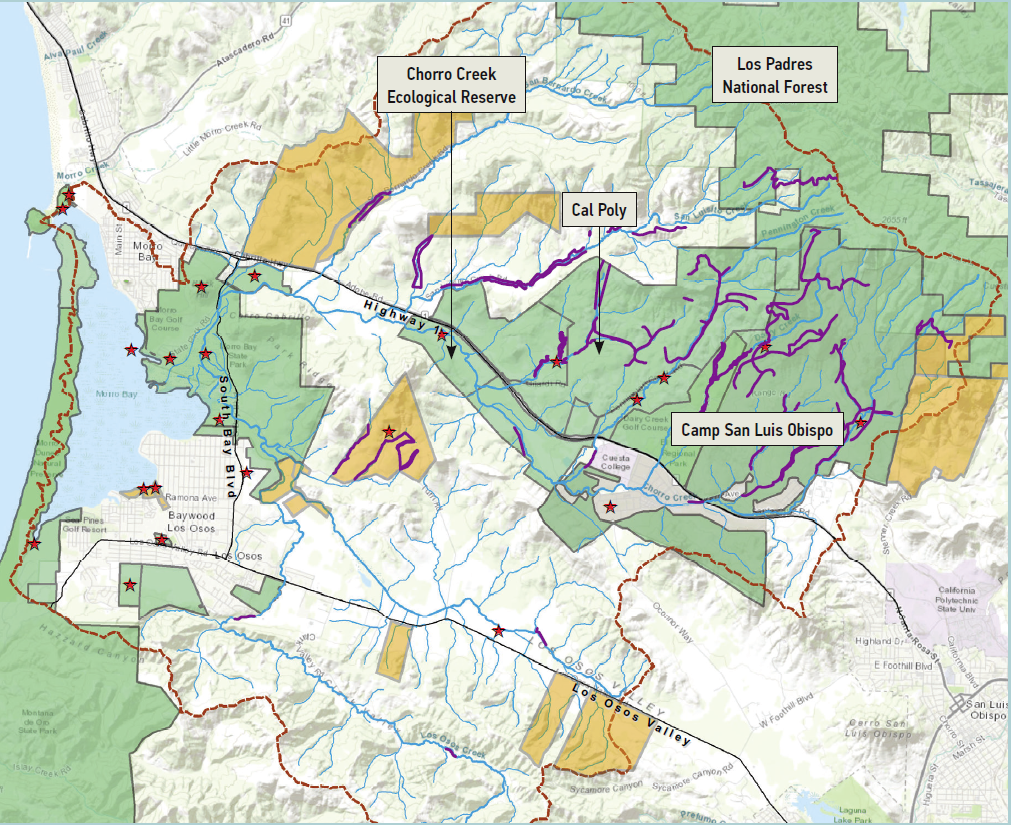 habitat map with labels