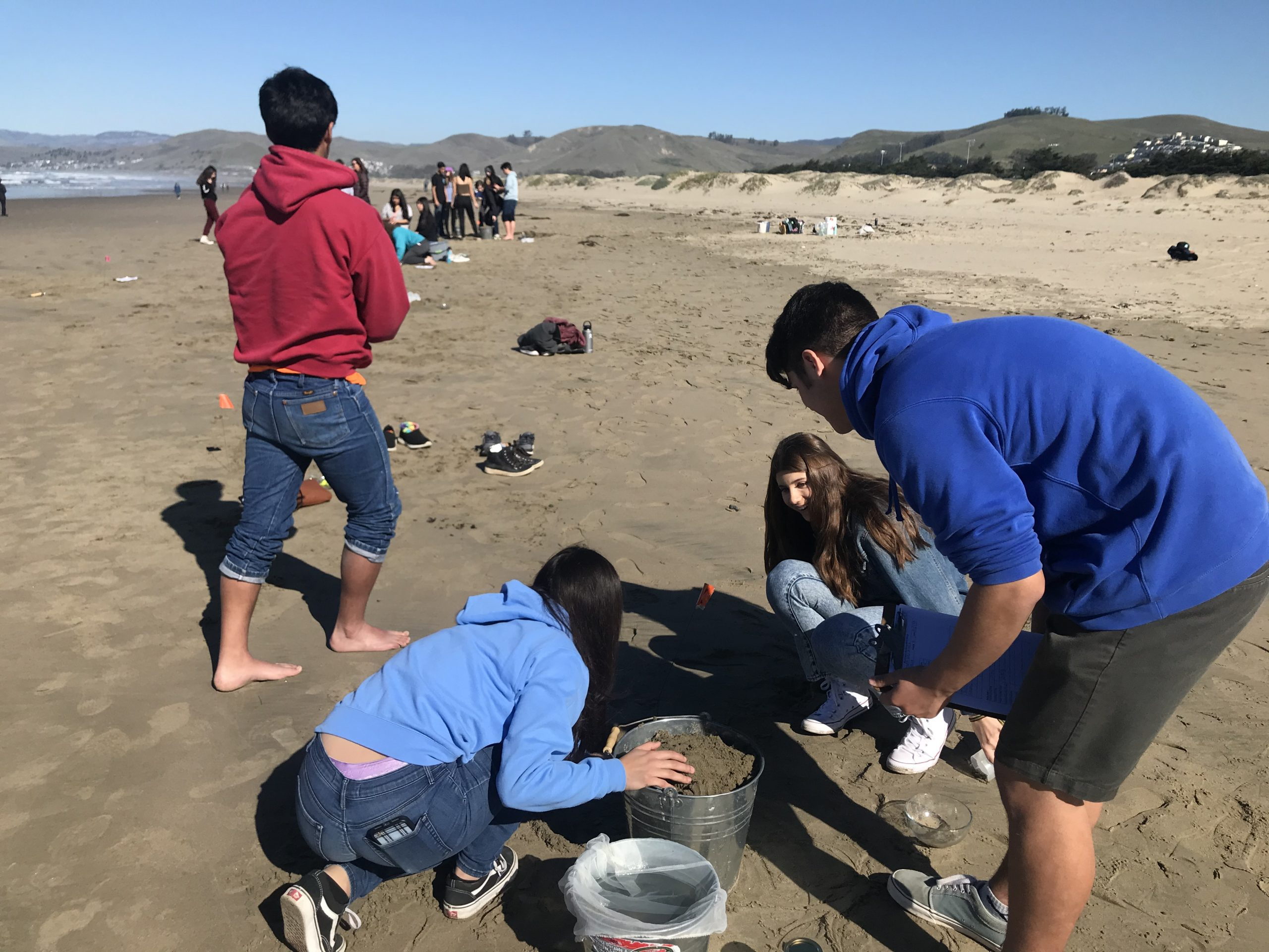 Students in Morro Bay High School science classes learn fieldwork and lab techniques as they monitor our local beaches for microplastic.