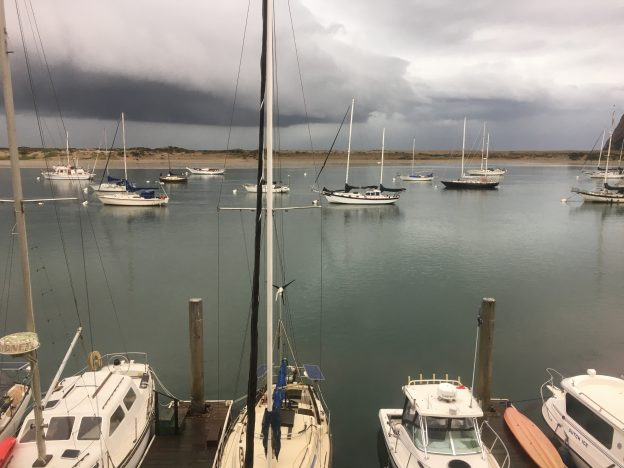 Storm clouds over the Morro Bay estuary