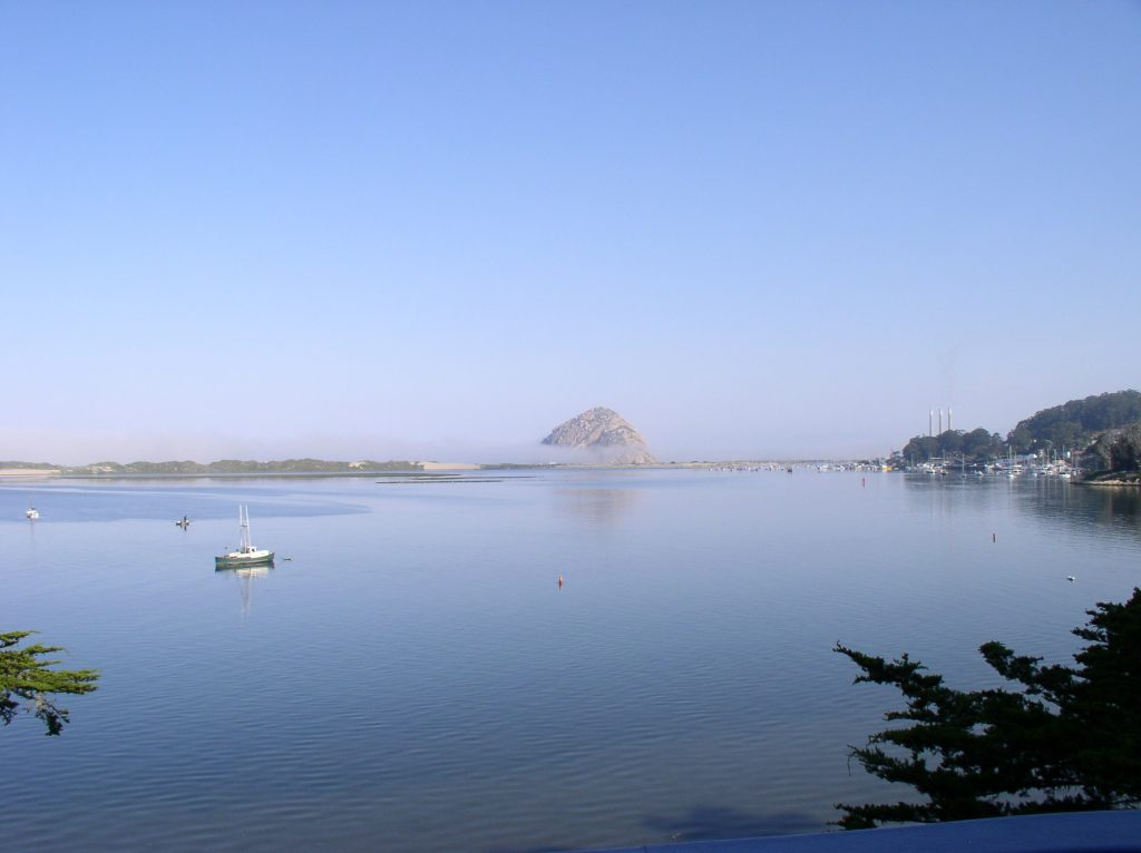 Morro Rock Fog View from Los Osos
