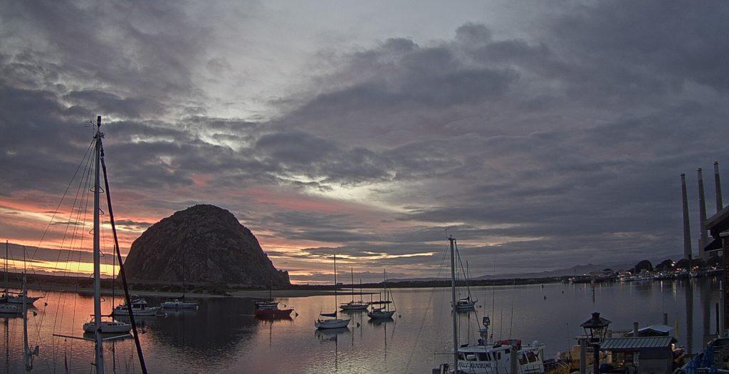 Morro Rock pastel sunset
