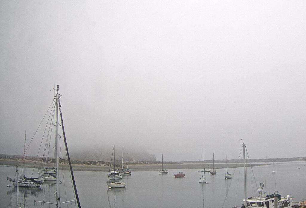 Morro Rock Behind Fog